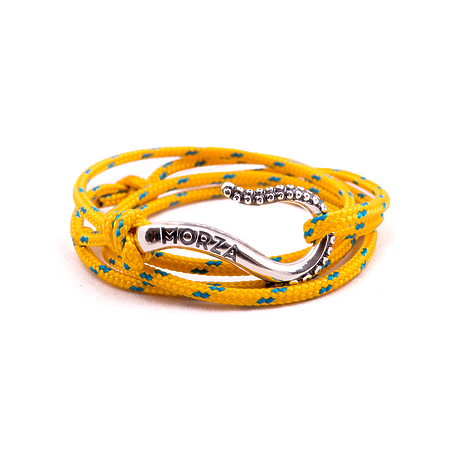 Silver bacelet Candy Yellow