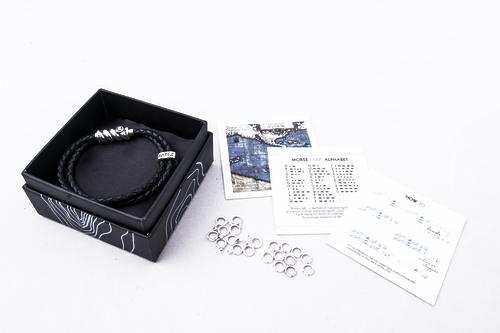 Браслет Magellan + комплект 20 бусин азбуки Морзе