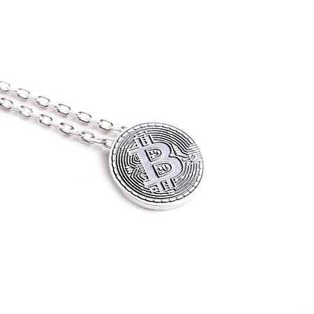 Bitcoin кулон с цепочкой