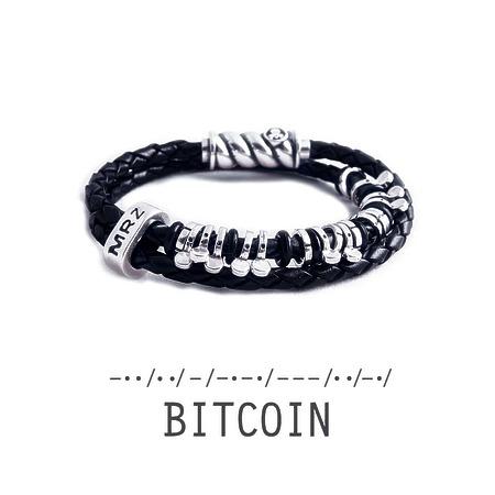 """Silver bracelet Magellan """"Bitcoin"""""""