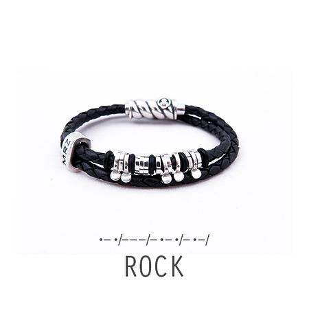 "Silver bracelet Magellan ""Rock"""