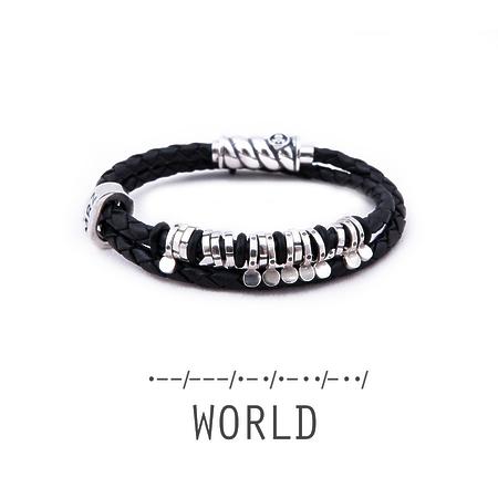 "Silver bracelet Magellan ""World"""